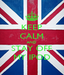 KEEP CALM AND STAY OFF MY IPOD - Personalised Poster A4 size
