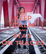 KEEP CALM AND STAY ON TRACKS - Personalised Poster A4 size