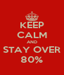 KEEP CALM AND STAY OVER 80% - Personalised Poster A4 size