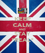 KEEP CALM AND STAY *REAL* - Personalised Poster A4 size