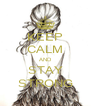KEEP CALM AND STAY STRONG - Personalised Poster A4 size