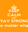 KEEP CALM AND STAY STRONG, no matter what - Personalised Poster A4 size
