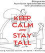 KEEP CALM AND STAY TALL - Personalised Poster A4 size