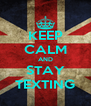 KEEP CALM AND STAY TEXTING - Personalised Poster A4 size
