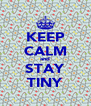 KEEP CALM and STAY TINY - Personalised Poster A4 size