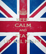 KEEP CALM AND STAY UP ALL NIGHT - Personalised Poster A4 size