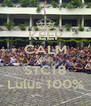 KEEP CALM AND STC18 Lulus 100% - Personalised Poster A4 size
