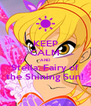 KEEP CALM AND Stella, Fairy of the Shining Sun! - Personalised Poster A4 size