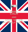 KEEP CALM AND STEM VIR DIE WITWOLF PARTY - Personalised Poster A4 size
