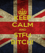 KEEP CALM AND STFU BITCH! - Personalised Poster A4 size