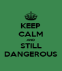 KEEP CALM AND STILL DANGEROUS - Personalised Poster A4 size