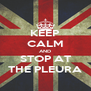 KEEP CALM AND STOP AT THE PLEURA - Personalised Poster A4 size
