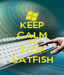 KEEP CALM AND STOP CATFISH - Personalised Poster A4 size