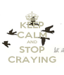 KEEP CALM AND STOP CRAYING - Personalised Poster A4 size