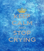 KEEP CALM AND STOP CRYING - Personalised Poster A4 size