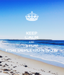 KEEP CALM AND STOP FISH DEPLETION NOW - Personalised Poster A4 size