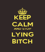 KEEP CALM AND STOP LYING BITCH - Personalised Poster A4 size