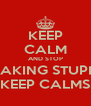 KEEP CALM AND STOP MAKING STUPID KEEP CALMS - Personalised Poster A4 size