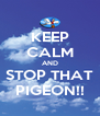 KEEP CALM AND STOP THAT PIGEON!! - Personalised Poster A4 size