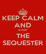KEEP CALM AND STOP THE SEQUESTER - Personalised Poster A4 size