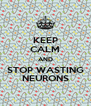 KEEP CALM AND STOP WASTING NEURONS - Personalised Poster A4 size