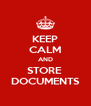 KEEP CALM AND STORE  DOCUMENTS - Personalised Poster A4 size