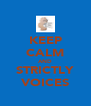 KEEP CALM AND STRICTLY VOICES - Personalised Poster A4 size