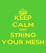 KEEP CALM AND STRING YOUR MESH - Personalised Poster A4 size