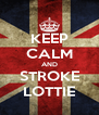 KEEP CALM AND STROKE LOTTIE - Personalised Poster A4 size
