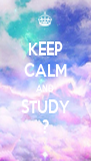 KEEP CALM AND STUDY ? - Personalised Poster A4 size