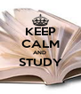 KEEP CALM AND  STUDY  - Personalised Poster A4 size