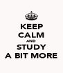 KEEP CALM AND STUDY A BIT MORE - Personalised Poster A4 size