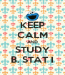 KEEP CALM AND STUDY B. STAT I - Personalised Poster A4 size