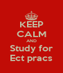 KEEP CALM AND Study for Ect pracs - Personalised Poster A4 size