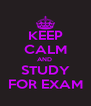 KEEP CALM AND  STUDY FOR EXAM - Personalised Poster A4 size