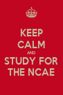 KEEP CALM AND STUDY FOR THE NCAE - Personalised Poster A4 size