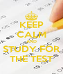 KEEP CALM AND STUDY FOR THE TEST - Personalised Poster A4 size