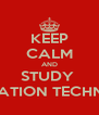 KEEP CALM AND STUDY  INFORMATION TECHNOLOGY - Personalised Poster A4 size
