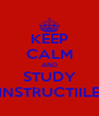 KEEP CALM AND STUDY INSTRUCTIILE - Personalised Poster A4 size