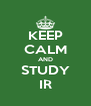 KEEP CALM AND STUDY IR - Personalised Poster A4 size