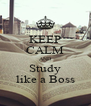 KEEP CALM AND Study like a Boss - Personalised Poster A4 size