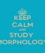 KEEP CALM AND STUDY  MORPHOLOGY - Personalised Poster A4 size