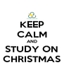 KEEP CALM AND STUDY ON CHRISTMAS - Personalised Poster A4 size
