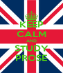 KEEP CALM AND STUDY PROSE - Personalised Poster A4 size