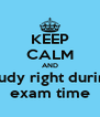 KEEP CALM AND study right during exam time - Personalised Poster A4 size