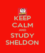 KEEP CALM AND STUDY SHELDON - Personalised Poster A4 size