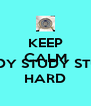 KEEP CALM AND STUDY STUDY STUDY HARD - Personalised Poster A4 size