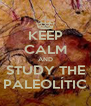 KEEP CALM AND STUDY THE PALEOLÍTIC - Personalised Poster A4 size