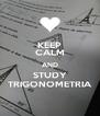KEEP CALM AND STUDY TRIGONOMETRIA - Personalised Poster A4 size
