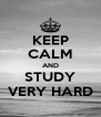 KEEP CALM AND STUDY VERY HARD - Personalised Poster A4 size